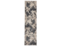 LivingStyles Turkish Made Rembrandt Designer Runner Rug in Ivory Blue - 400x80cm