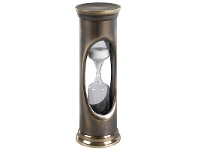 LivingStyles Whistle Solid Bronze 3 Minute Sandglass