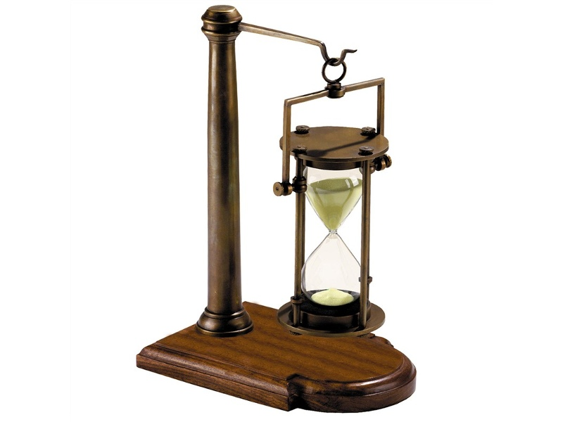 Strom Solid Brass 30 Minute Sandglass on Stand