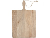 LivingStyles Blayney Solid Mango Wood Timber Rectangular Serving Board with Handle - Large