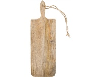 LivingStyles Blayney Solid Mango Wood Timber Long Serving Board with Handle - Small
