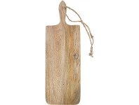 LivingStyles Blayney Solid Mango Wood Timber Long Serving Board with Handle - Medium
