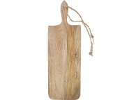 LivingStyles Blayney Solid Mango Wood Timber Long Serving Board with Handle - Large