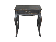 LivingStyles Denon Birch Timber Night Stand, Distressed Black