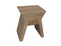 LivingStyles Craig Recycled Pine Timber Stool