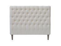 LivingStyles Phillipe Tufted Cotton Bed Head, Double, Cream