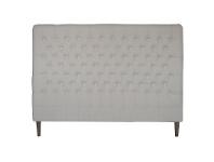 LivingStyles Phillipe Tufted Cotton Bed Head, King, Cream