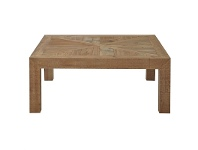 LivingStyles Alvis Recycled Timber Parquetry Top Square Coffee Table