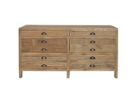 LivingStyles Printmakers Recylced Pine Timber TV Unit, 140cm