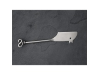 LivingStyles S-Steel Mouse Cheese Knife - Knot Handle - L17.5cm