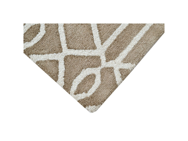 Maryland Tie Dye Wool Rug, 160x110cm, Brown