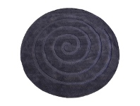 LivingStyles Swirl Hand Tufted Round Wool Rug, 160cm, Charcoal