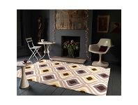 LivingStyles Stunning Oil Lamp Rug in Yellow - 165x115cm