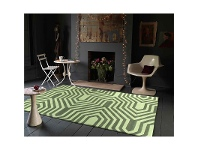 LivingStyles Circuit Board Rug in Green - 225x155cm