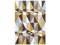 LivingStyles Narris Crystal Hand Tufted Rug in Yellow Tone - 225x155cm