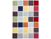 LivingStyles Narris Colourful Tile Hand Tufted Rug - 165x115cm
