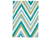 LivingStyles Narris Chevron Hand Tufted Rug in Green Tone - 225x155cm