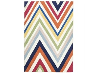 LivingStyles Narris Chevron Hand Tufted Rug in Rainbow - 165x115cm