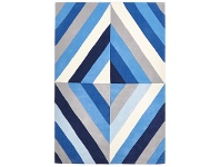 LivingStyles Narris Prism Hand Tufted Rug in Blue Tone - 225x155cm