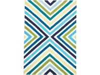 LivingStyles Narris Cross Roads Hand Tufted Rug in Blue and Green - 225x155cm