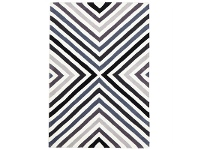 LivingStyles Narris Cross Roads Hand Tufted Rug in Charcoal Grey - 225x155cm