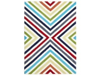 LivingStyles Narris Cross Roads Hand Tufted Rug in Rainbow - 165x115cm