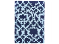 LivingStyles Narris Gothic Tribal Hand Tufted Rug in Navy - 225x155cm