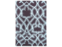 Narris Gothic Tribal Hand Tufted Rug in Smoky Grey - 320x230cm