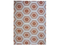 LivingStyles Sweden Honeycomb Hand Tufted Wool Dhurrie Rug, 230x160cm, Apricot