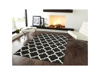 LivingStyles Trendy Woollen Durries in Black-White - 160x230cm