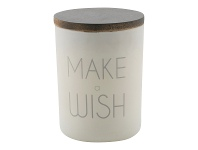 LivingStyles Make a Wish Frosted Glass Candle Holder with Linen Scent Wax