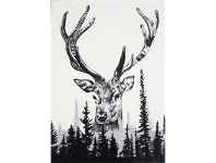 LivingStyles Iconic Forest Deer Turkish Made Rug, 200x290cm