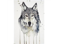 LivingStyles Iconic Wolf Turkish Made Rug, 200x290cm