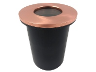 LivingStyles Morroch IP67 Exterior Plain Recessed Wall / Inground Up Light, Copper