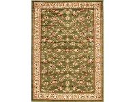 LivingStyles Istanbul Floral Turkish Made Oriental Rug, 400x300cm, Green