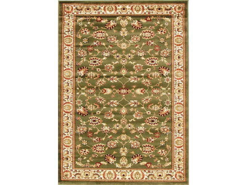 Istanbul Floral Turkish Made Oriental Rug, 400x300cm, Green