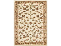 LivingStyles Istanbul Floral Turkish Made Oriental Rug, 170x120cm, Ivory
