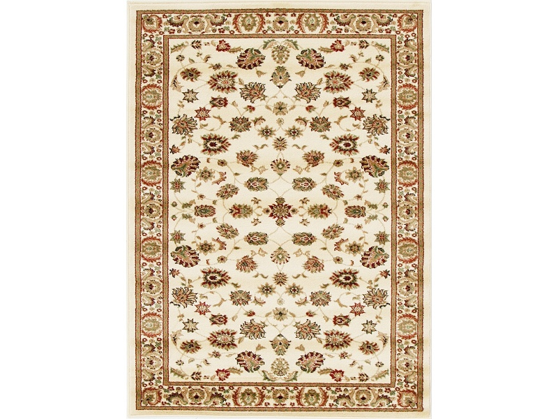 Istanbul Floral Turkish Made Oriental Rug, 170x120cm, Ivory