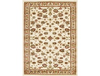 LivingStyles Istanbul Floral Turkish Made Oriental Rug, 230x160cm, Ivory