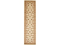 LivingStyles Istanbul Floral Turkish Made Oriental Runner Rug, 400x80cm, Ivory