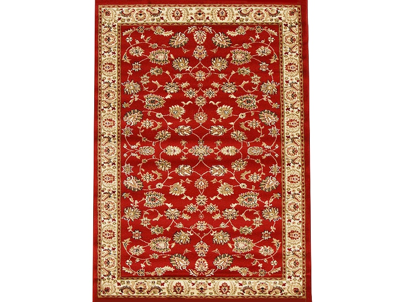 Istanbul Floral Turkish Made Oriental Rug, 170x120cm, Red