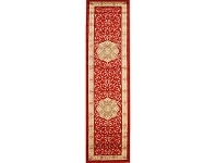 LivingStyles Istanbul Medallion Turkish Made Oriental Runner Rug, 500x80cm, Red