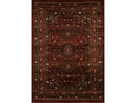 LivingStyles Istanbul Shiraz Turkish Made Oriental Rug, 170x120cm, Burgundy