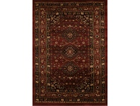 LivingStyles Istanbul Shiraz Turkish Made Oriental Rug, 400x300cm, Burgundy