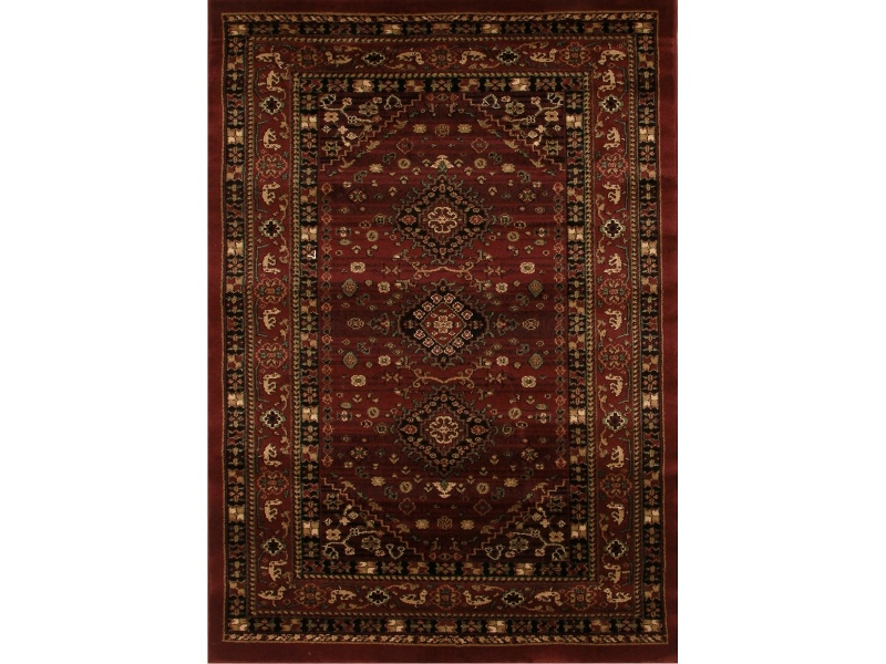 Istanbul Shiraz Turkish Made Oriental Rug, 400x300cm, Burgundy