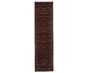 Istanbul Shiraz Turkish Made Oriental Rug, 500x80cm, Burgundy