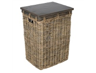 LivingStyles Alchemy Wooden Side Table with Rattan Trunk