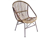 LivingStyles Buton Disdressed Rattan Armchair - Natural