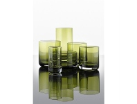LivingStyles IVV Lounge Bar Whiskey Glass, Set of 6, Green
