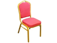 LivingStyles Chandler Banquet Function Dining Chair, Red Fabric